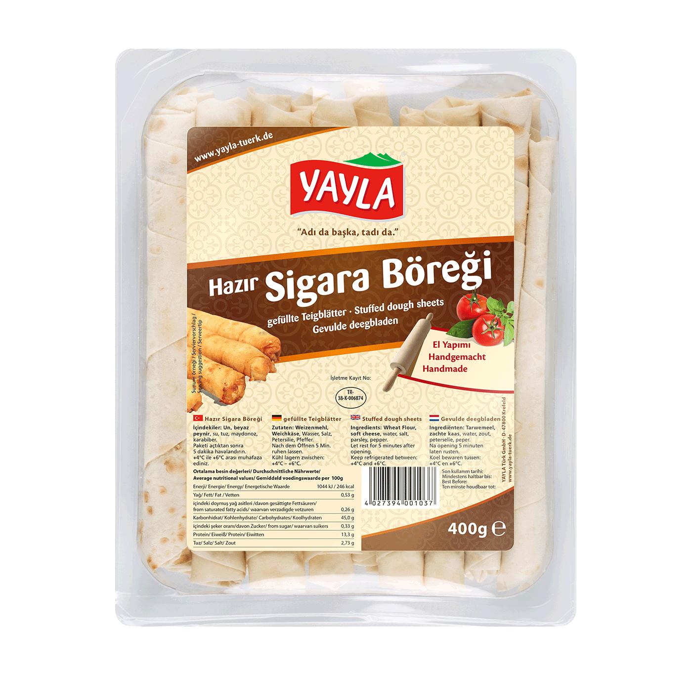 Yayla hazir Sigara Böregi / Teigblätter mit Käse 400g