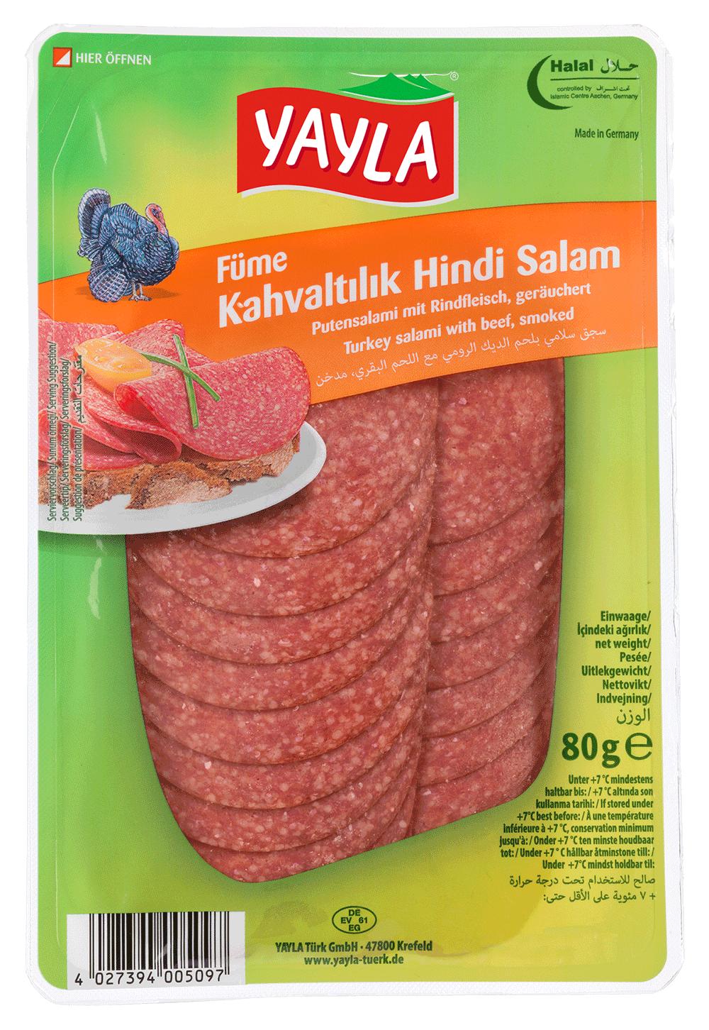 Yayla Kahvaltilik Hindi Salami / Putensalami 80g