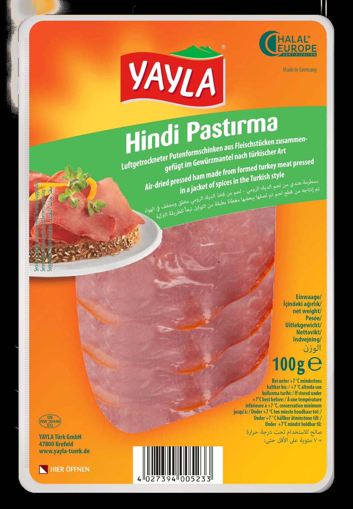 Yayla Hindi Pastirma / Putenformfleischschinken nach türkischer Art 100g