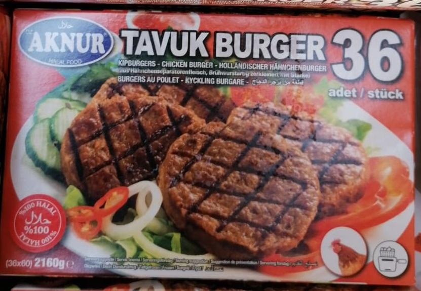 Aknur Tavuk Burger 36 Adet 2160G