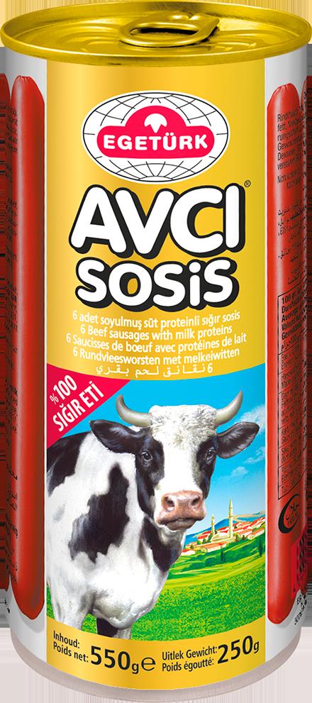 Egetürk Avcı Sosis 250G %100 Sığır Eti