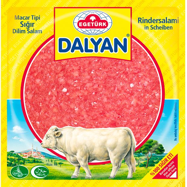 Egetürk Dalyan Macar Tipi Sığır Dilim Salam 200G