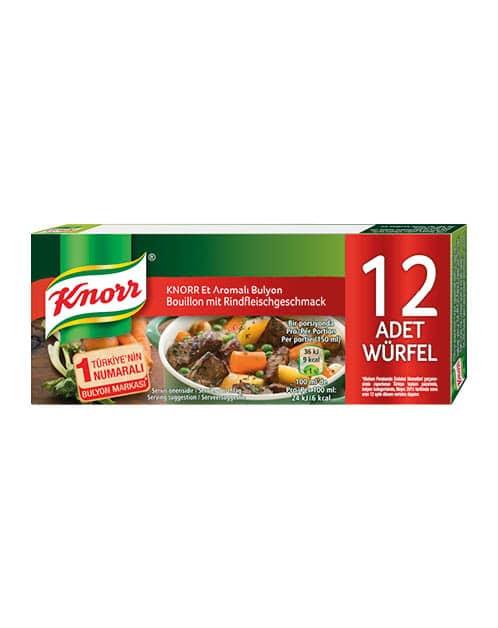 Knorr Bouillon mit Rindfleischgeschmack /Et Bulyon 12St. 120g