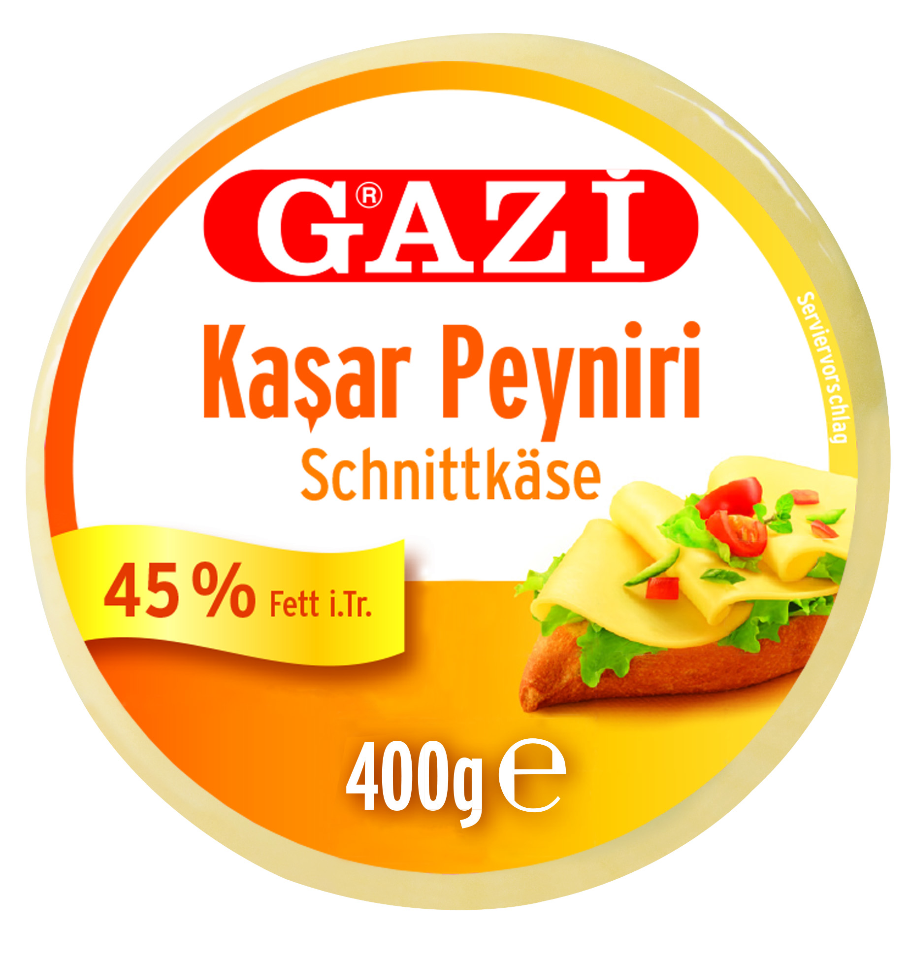 Gazi 45% Kashkaval Schnittkäse 400 gr