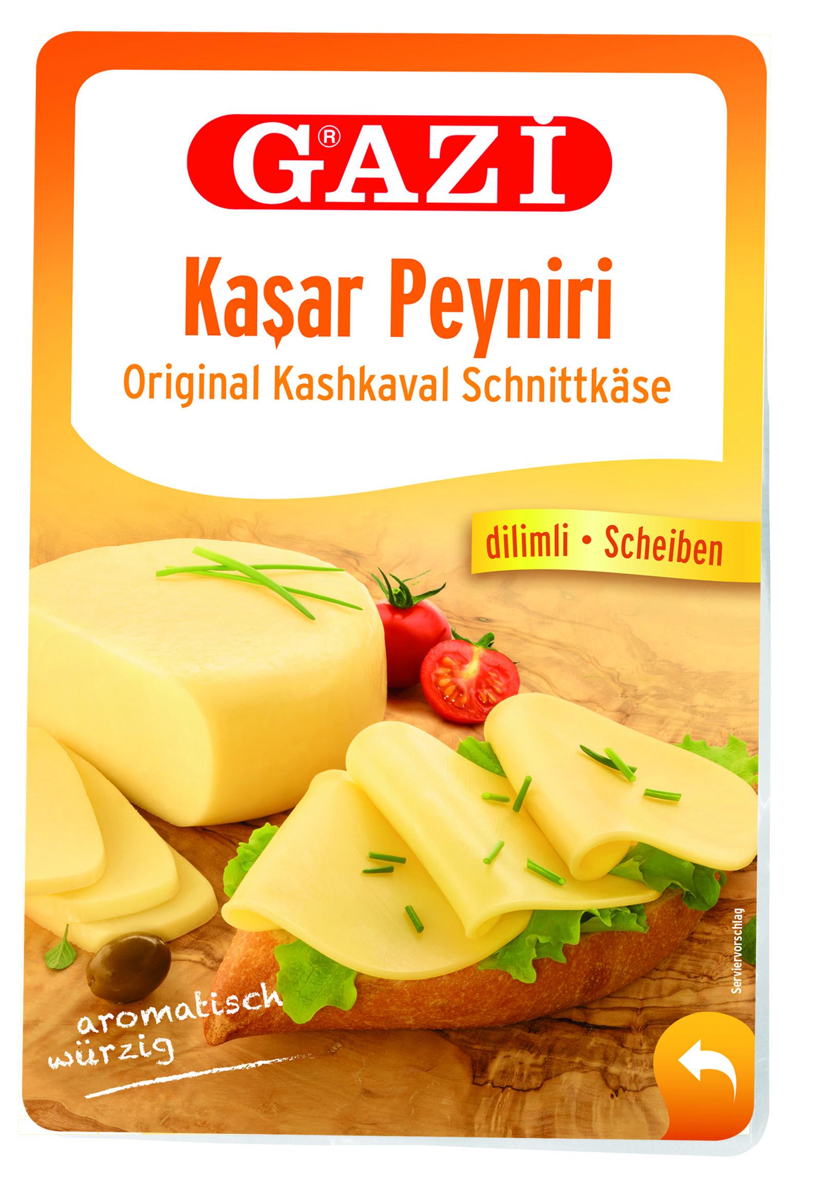 Gazi 45% Kashkaval Schnittkäse in Scheiben 200gr