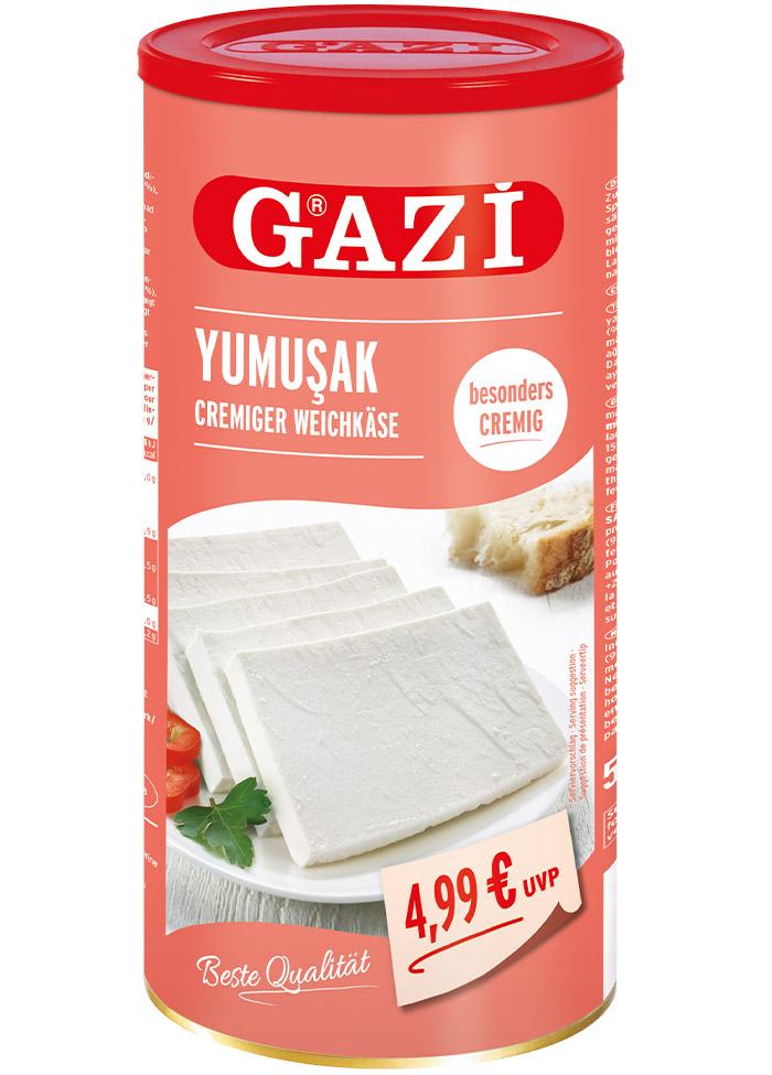 Gazi Yumuşak Kremsi Beyaz Peynir 800G