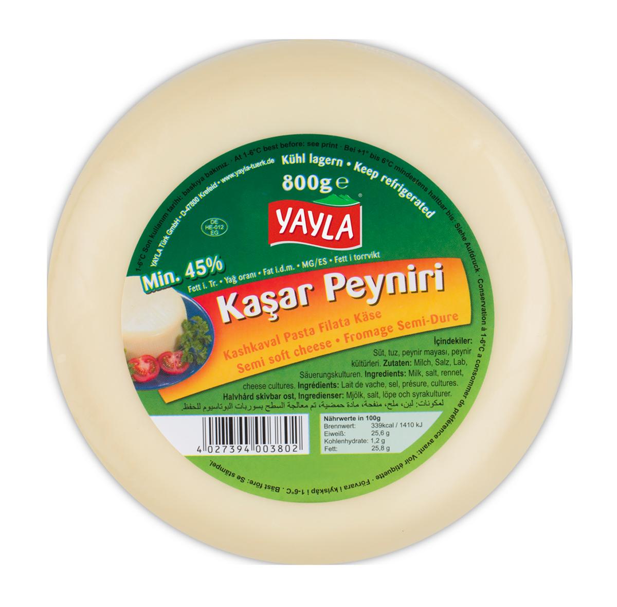 Yayla Kasar Peyniri / Kashkaval Schnittkäse 800g