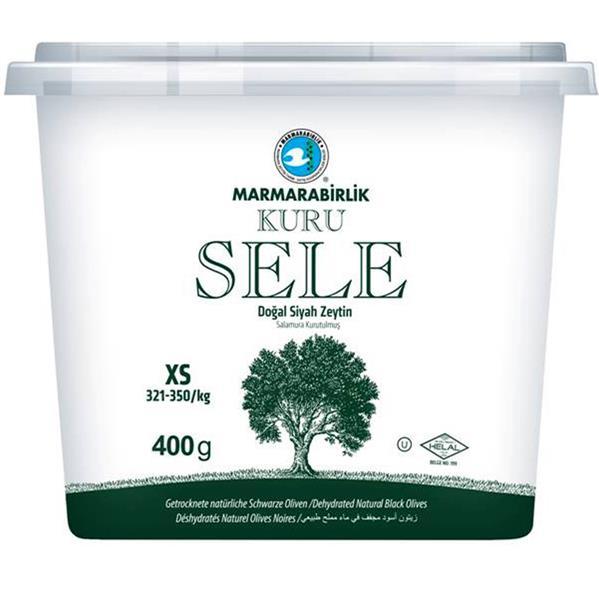 Marmarabirlik Dogal Siyah Zeytin / getrocknete natürliche schwarze Oliven gr. S 400g