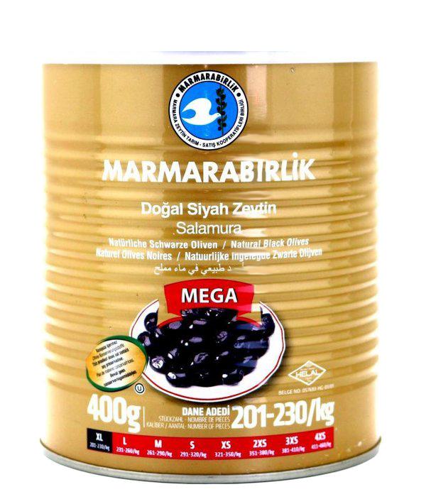 Marmarabirlik Doğal Siyah Zeytin Mega 400G