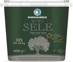 Marmarabirlik Dogal Siyah Zeytin / getrocknete natürliche schwarze Oliven gr. 2XS 400g