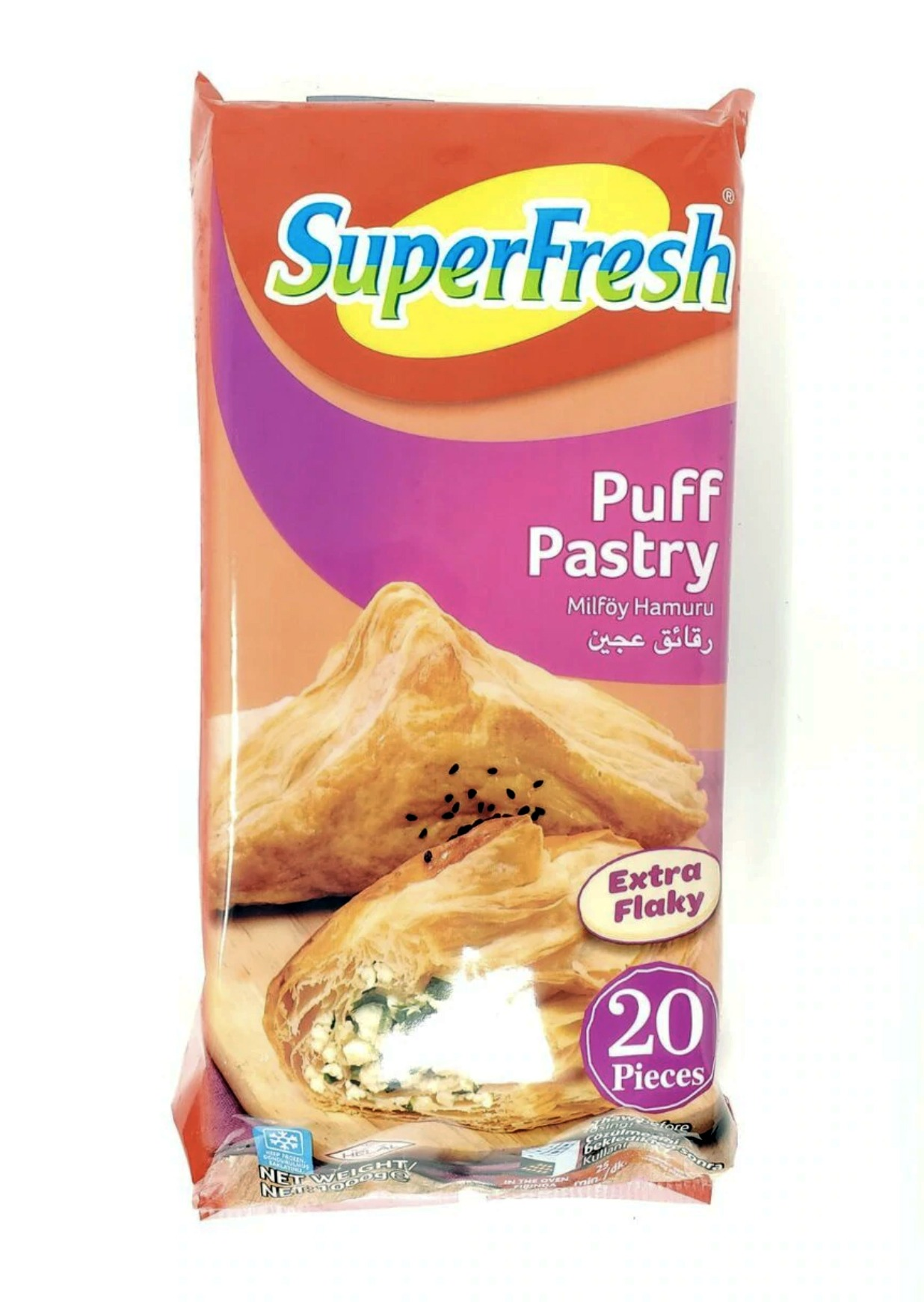 Süperfress Puff Pastry Extra Flakly 20 Pieces