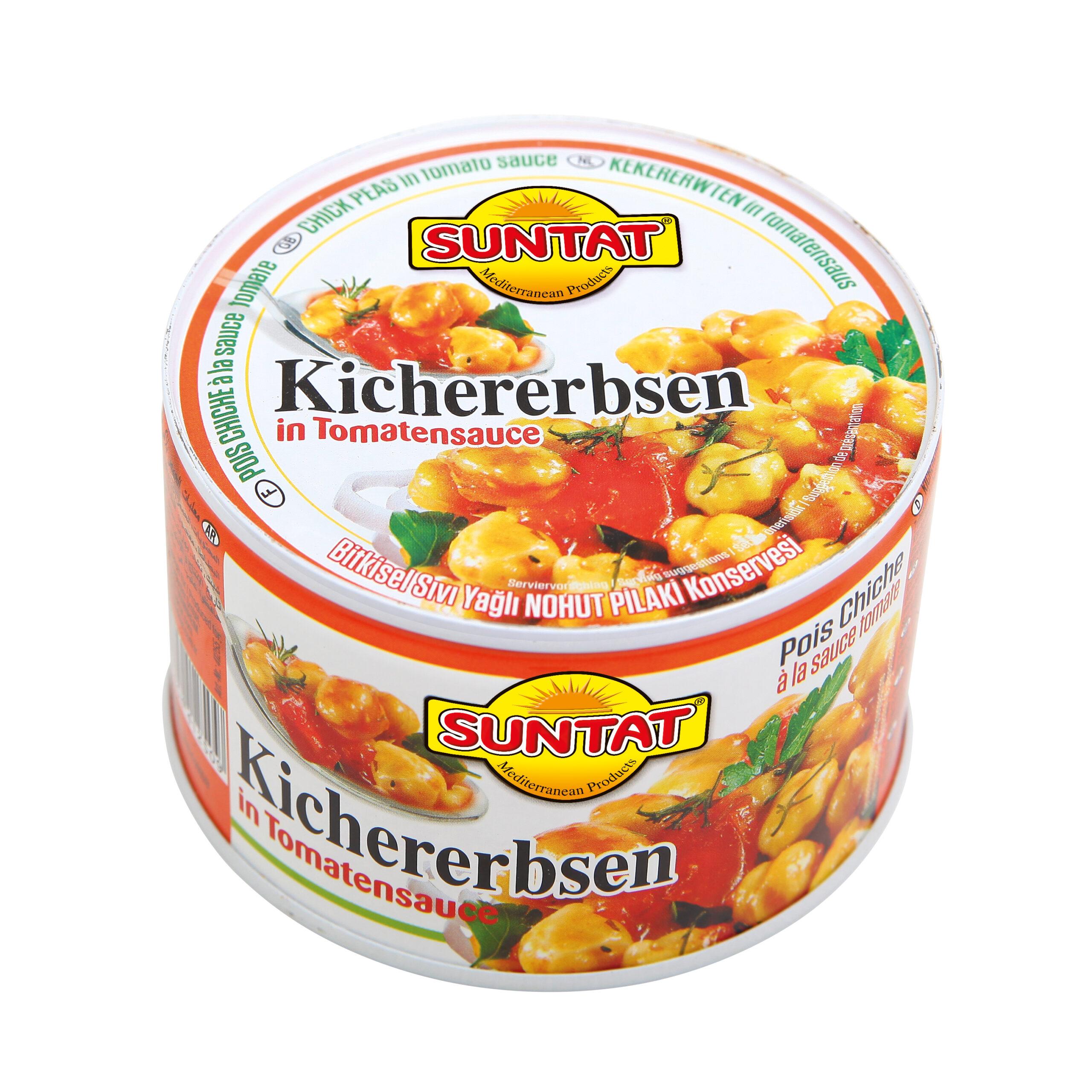 Suntat Kichererbsen in Tomatensauce