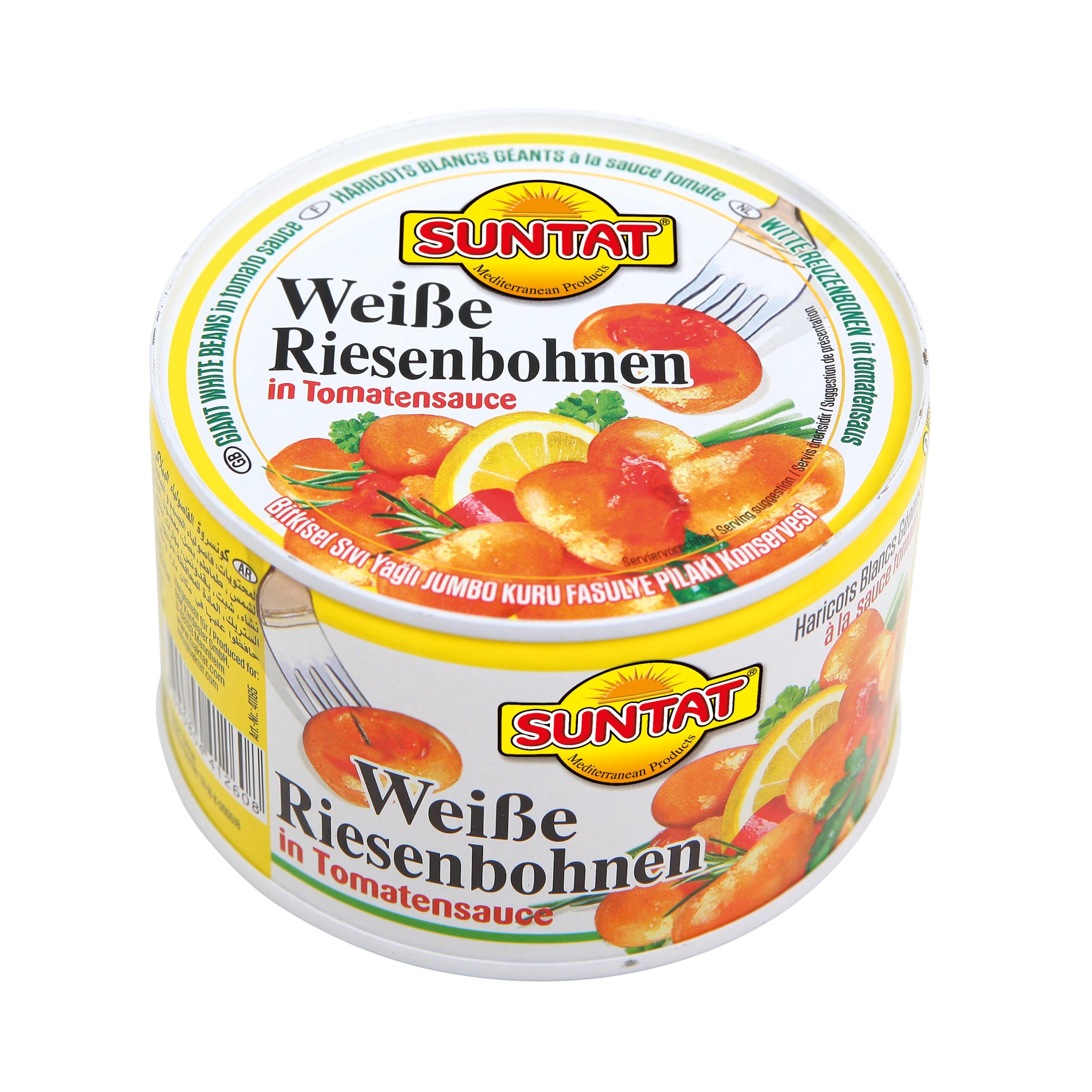 Suntat weiße Riesenbohnen in Tomatensauce