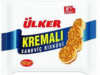 Ülker Kremalı Sandviç Bisküvi 8li Paket