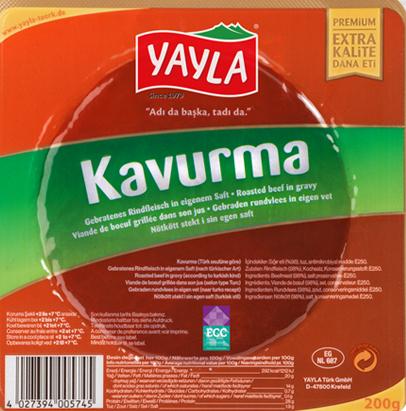Yayla Kavurma 200G