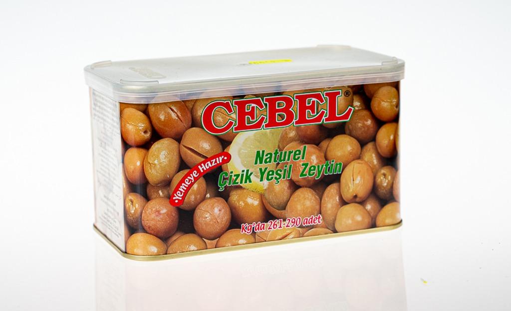 Cebel Naturel Çizik Yeşil Zeytin – Yemeye Hazır – Kg'da 261-290 adet bulunur.