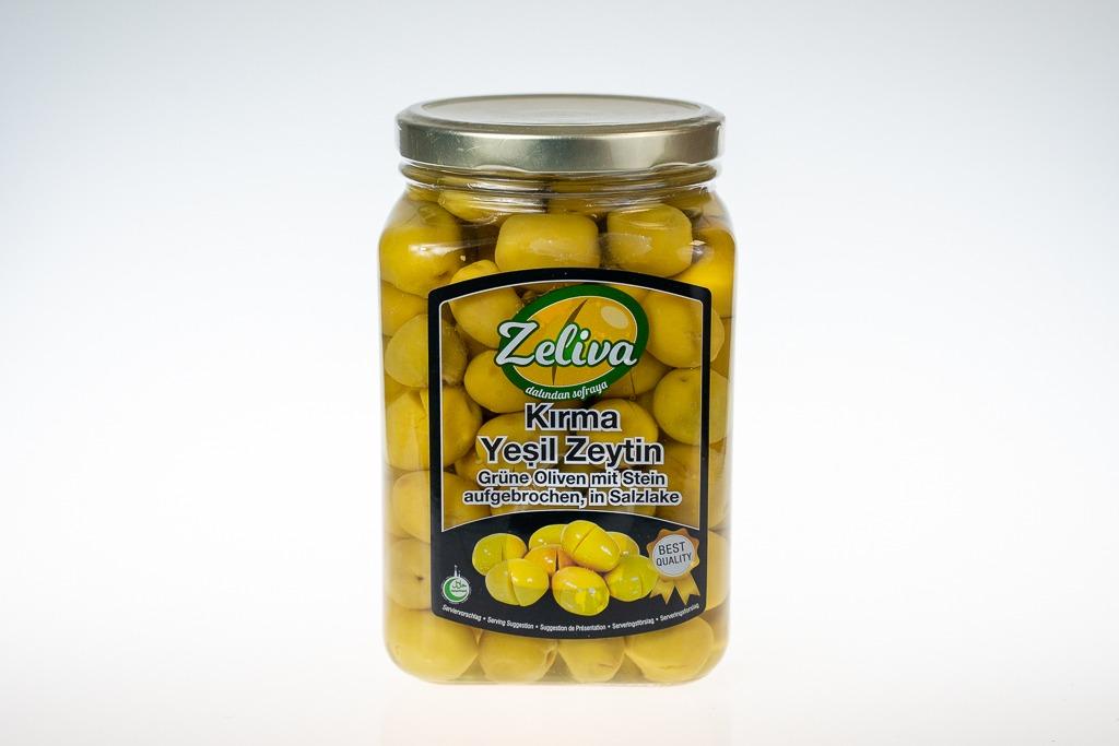 Zeliva Kırma Yeşil Zeytin – Best Quality