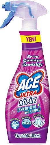 Ace Ultra Köpük Çamaşır Suyu + Yağ Sökücü – Ev ve Çamaşır Temizliği