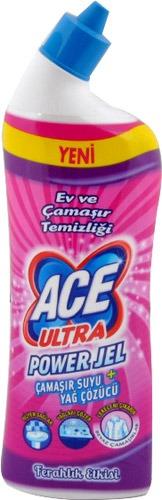 Ace Ultra Power Jel Çamaşır Suyu + Yağ Sökücü