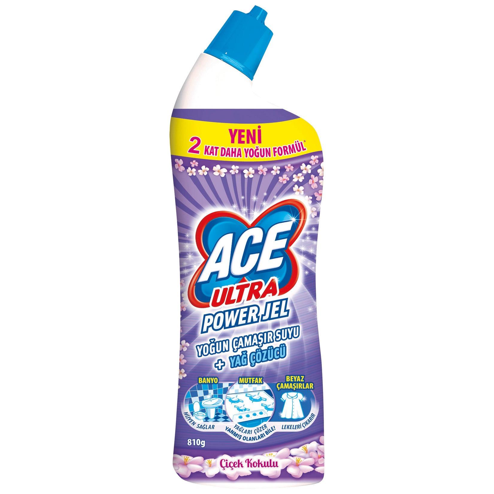 Ace Ultra Power Jel Çamaşır Suyu + Yağ Sökücü Çiçek Kokulu