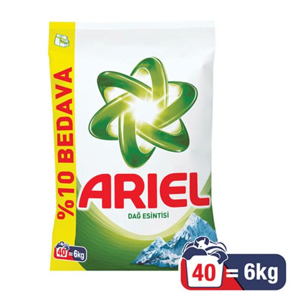 Ariel Dağ Esintisi Toz Çamaşır Deterjanı 40 Yıkama 6Kg
