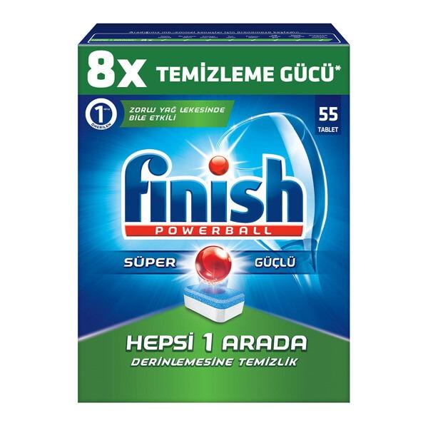 Finish 8X Hepsi 1 Arada 55 Tablet Zorlu Yağlarda Bile Etkili – Derinlemesine Temizlik