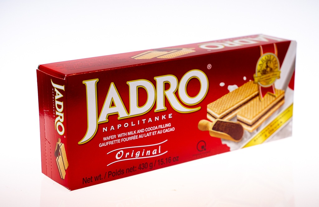 Jadro Napolitanke Original Gofret 430 G – Sütlü & Çikolatalı