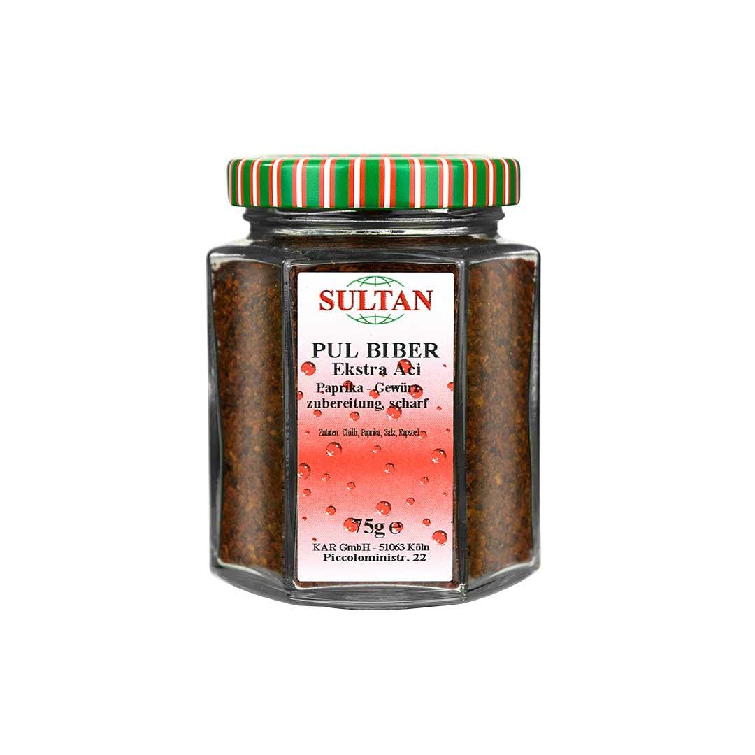 Sultan Pul Biber Extra Acı Baharat 75 G
